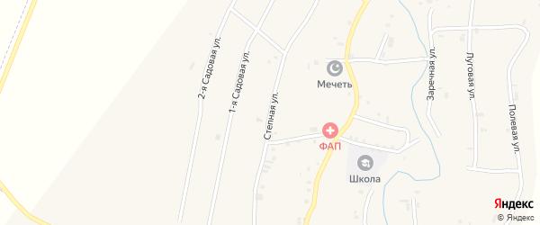 Степная улица на карте села Янди с номерами домов