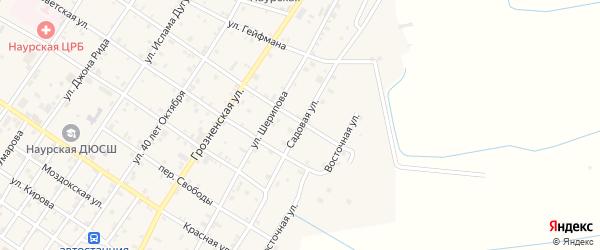 Садовая улица на карте Наурская станицы с номерами домов