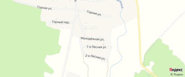 Молодежная улица на карте села Янди с номерами домов