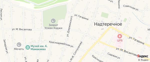 Улица им М.Висаитова на карте Братского села с номерами домов