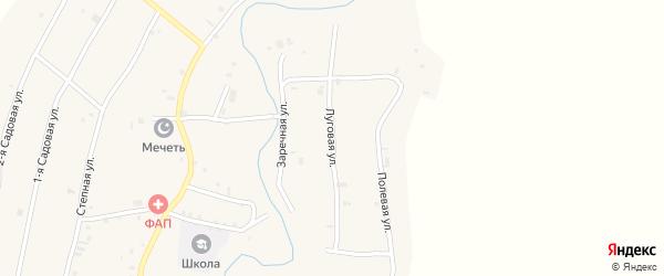 Луговая улица на карте села Янди с номерами домов