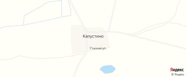 Карта деревни Капустино в Чечне с улицами и номерами домов