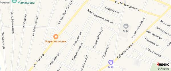 Больничная улица на карте Надтеречного села с номерами домов