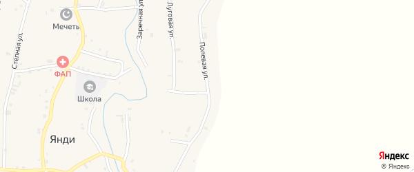 Полевая улица на карте села Катар-Юрт с номерами домов