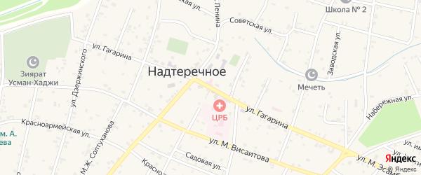 Улица Гагарина на карте Надтеречного села с номерами домов