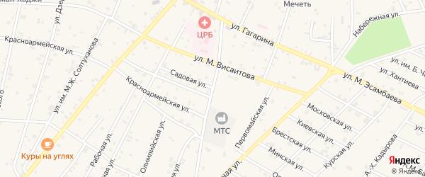Садовая улица на карте Надтеречного села с номерами домов