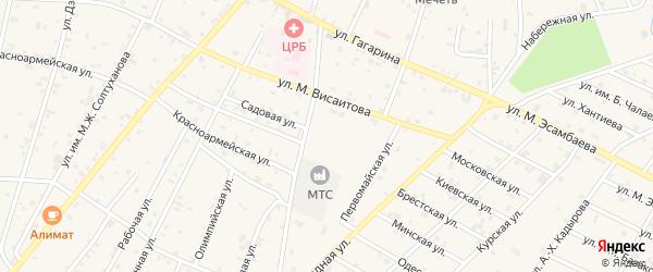 Западная улица на карте Надтеречного села с номерами домов