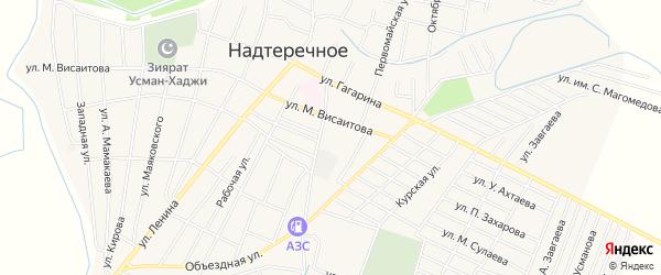 Карта Надтеречного села в Чечне с улицами и номерами домов