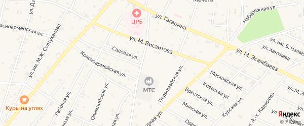 Улица Им А.Махтиева на карте Надтеречного села с номерами домов