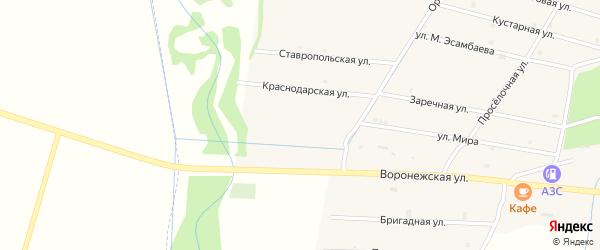 Ростовская улица на карте села Катар-Юрт с номерами домов