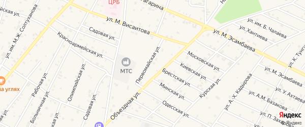 Первомайская улица на карте Надтеречного села с номерами домов