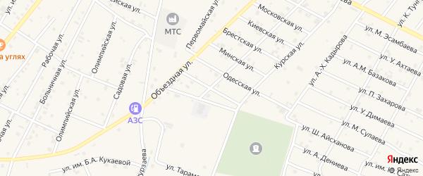 Севастопольская улица на карте Надтеречного села с номерами домов