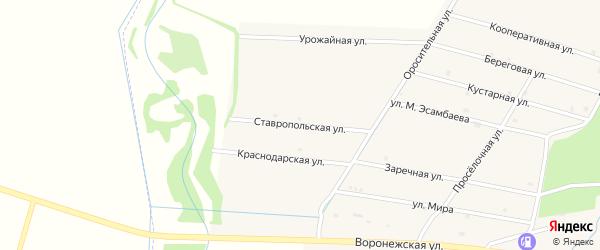 Ставропольская улица на карте села Катар-Юрт с номерами домов