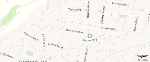Пионерская улица на карте Надтеречного села с номерами домов