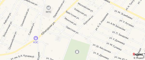 Одесская улица на карте Надтеречного села с номерами домов
