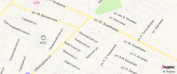 Московская улица на карте Надтеречного села с номерами домов
