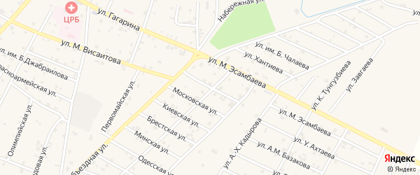 Новороссийская улица на карте Надтеречного села с номерами домов