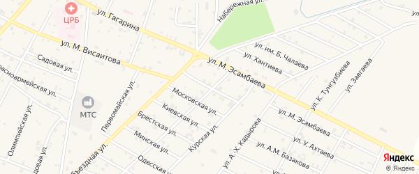 Новая улица на карте Надтеречного села с номерами домов