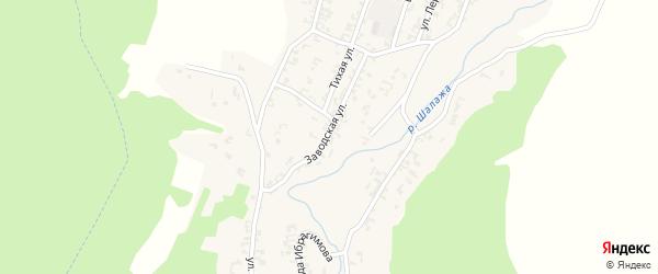 Заводская улица на карте села Шалажи с номерами домов