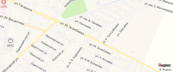 Улица Эсамбаева на карте Надтеречного села с номерами домов