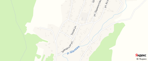 Тихая улица на карте села Шалажи с номерами домов