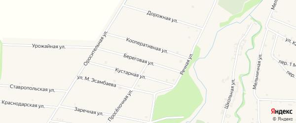 Проселочная улица на карте села Катар-Юрт с номерами домов