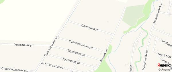 Луговая улица на карте села Катар-Юрт с номерами домов