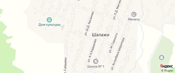 Базарная улица на карте села Шалажи с номерами домов