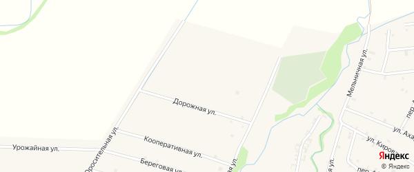 Прудная улица на карте села Катар-Юрт с номерами домов