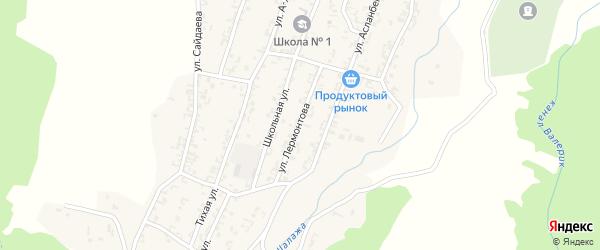 Улица Лермонтова на карте села Шалажи с номерами домов