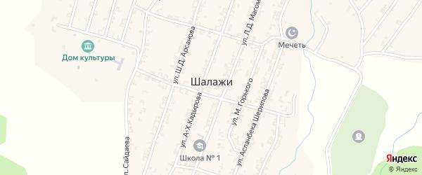 Улица Х.Нурадилова на карте села Шалажи с номерами домов