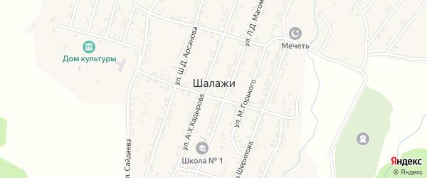 Улица М.Мерзоева на карте села Шалажи с номерами домов