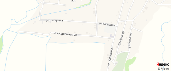 Аэродромная улица на карте села Катар-Юрт с номерами домов