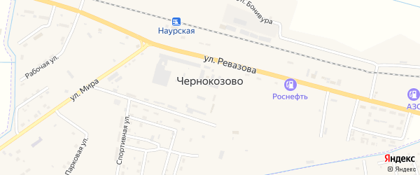 Улица Новоселова на карте села Чернокозово с номерами домов