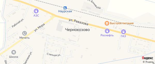 Рабочая улица на карте села Чернокозово с номерами домов