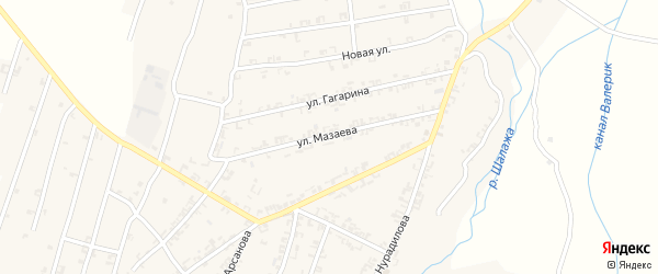 Улица Мазаева на карте села Шалажи с номерами домов