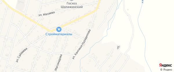 Улица Нурадилова на карте села Шалажи с номерами домов