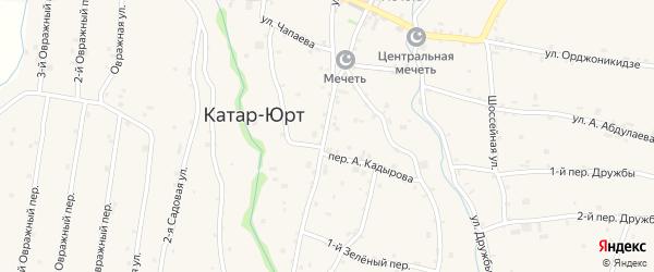 Улица А.А.Кадырова на карте села Хамби-Ирзи с номерами домов