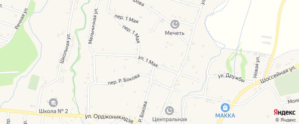 1 Мая улица на карте села Катар-Юрт с номерами домов