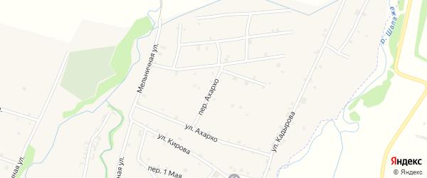 Переулок Ахархо на карте села Катар-Юрт с номерами домов