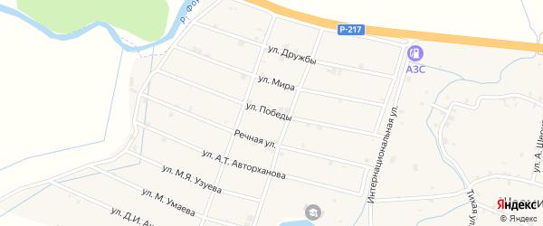 Улица Победы на карте села Шаами-Юрт с номерами домов