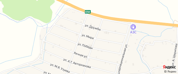 Улица Мира на карте села Шаами-Юрт с номерами домов