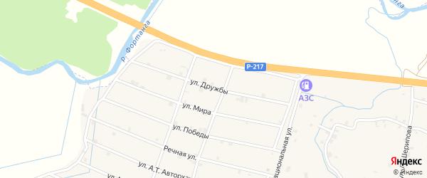 Улица Дружбы на карте села Шаами-Юрт с номерами домов