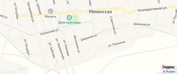Широкая улица на карте Юбилейного села с номерами домов