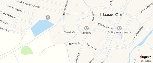 Тихая улица на карте села Шаами-Юрт с номерами домов