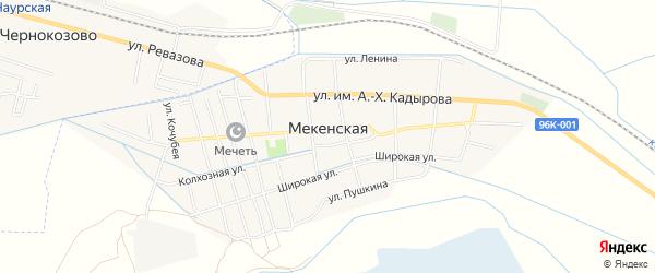 Территория Майорский на карте Мекенская станицы с номерами домов