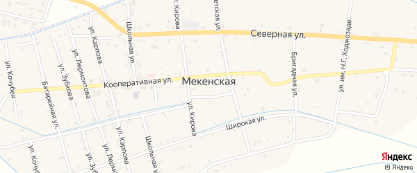 Озерная улица на карте территории Майорского с номерами домов