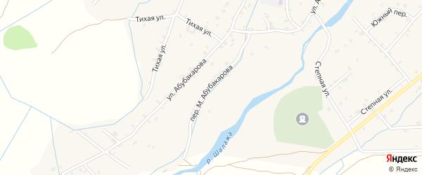 Улица М.Абубакарова на карте села Шаами-Юрт с номерами домов