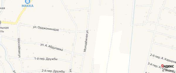Молодежная улица на карте села Катар-Юрт с номерами домов