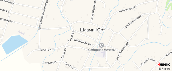 Улица Р.Ахматовой на карте села Шаами-Юрт с номерами домов